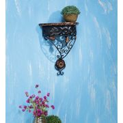 Wooden & Wrought Iron Wall Bracket Size (lxbxh-12x6x14) Inch