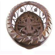 Wooden & Iron Fruit Basket Oval Shape