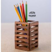 Onlineshoppee Wooden Pen Holder Superior Quality Sheesham Wood