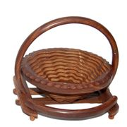 Wooden Fruit Basket + Free 3 Tea Spoons