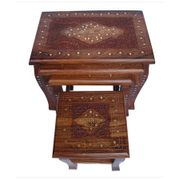 Carved Set Of 4 Tables