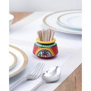 Ethnic Red Terracotta Toothpick Holder