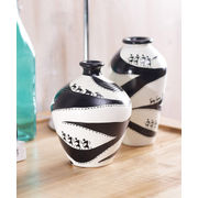 Black and White Tribal Vases Set