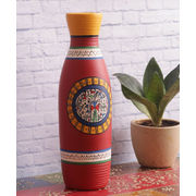 Brick Red Handpainted terracotta Vase