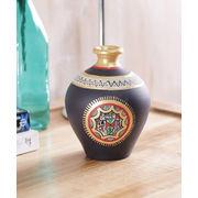 Black handcrafted terracotta vase