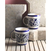 Blue Mughal Ceramic Cups Set of Six