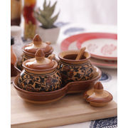 Brown Ceramic Pickle Jars Set