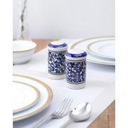 Blue ceramic Salt n Pepper Set