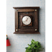 Antique Wood and Iron Wall Clock