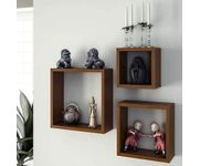 Onlineshoppee Fancy handicraft design Wall Decor MDF Wall Shelf  - Brown