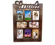 Onlineshoppee Wooden Antique  Wall Hanging Family Picture Photo Frame For Living Room Size(LxBxH-17  x 1x 25 ) Inch
