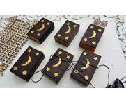 Onlineshoppee Wooden & Brass Work Jewellery Box
