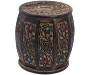 Onlineshoppee Wooden Drum /cylinder  Shaped  Money Bank