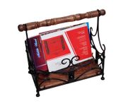 Onlineshoppee Wooden With Handwork Magazine Holder Size-18x9x16 Inch