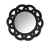 Onlineshoppee MDF Antique With Handicraft Work Fancy Design  Mirror Frame Size(LxBxH-16x1x16) Inch