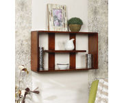 Onlineshoppee Wooden Handicraft  multiple compartments  Designer  Wooden Wall Shelf