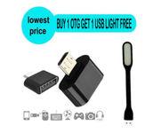Onlineshoppee Micro USB OTG Adapter (Buy 1 Otg Adapter Get 1 Usb Light Free)