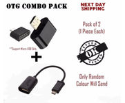 Onlineshoppee Micro USB OTG Adapter (Buy 1 Otg Adapter Get 1 OTG Cable Free)
