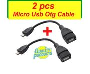 Onlineshoppee Micro USB OTG Cable Add Pendrive Card Reader Mouse to Mobile Tablet ( Pack of 2 )