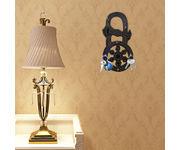 Onlineshoppee Wooden Antique  Key Holder Handicrafts Lock & Key Shape  Size(LxBxH-5 x1x10) Inch