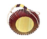 Onlineshoppee Wooden Fruit Basket With Handle