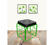 Onlineshoppee Iron & Cushion Stool/Table