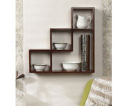 Onlineshoppee Wooden Handicraft  Designer L Shape Wooden Wall Shelf
