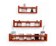 Onlineshoppee  MDF Wall Decor  Multipurpose Wall Shelf with 3 Shelves Colour - Brown)