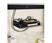 Onlineshoppee MDF Beautiful Design Set top box Wall Shelf Colour- Black