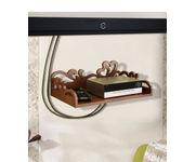 Onlineshoppee MDF Beautiful Design Set top box Wall Shelf Colour- Brown
