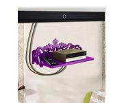 Onlineshoppee MDF Beautiful Design Set top box Wall Shelf Colour- Purple