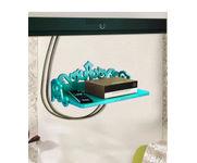 Onlineshoppee MDF Beautiful Design Set top box Wall Shelf Colour- Sky Blue