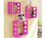 Onlineshoppee Fancy Wall Decor MDF Wall Shelf  - Pink