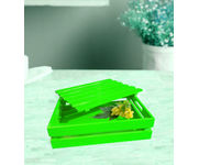 Onlineshoppee Hand-crafted Premium Quality MDF Fruit & Vegetable Tray - Green
