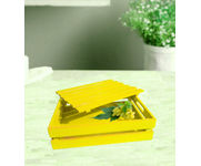 Onlineshoppee Hand-crafted Premium Quality MDF Fruit & Vegetable Tray - Yellow