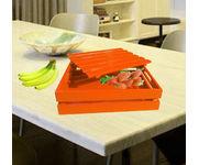 Onlineshoppee Hand-crafted Premium Quality MDF Fruit & Vegetable Tray - Orange