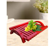 Onlineshoppee Hand-crafted Premium Quality MDF Fruit & Vegetable Tray - Red