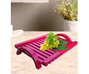 Onlineshoppee Hand-crafted Premium Quality MDF Fruit & Vegetable Tray - Pink