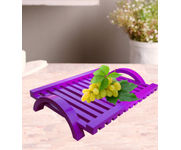 Onlineshoppee Hand-crafted Premium Quality MDF Fruit & Vegetable Tray - Purple