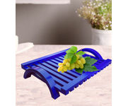 Onlineshoppee Hand-crafted Premium Quality MDF Fruit & Vegetable Tray - Blue