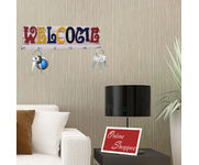 Onlineshoppee Wooden Colourful Welcome key holder