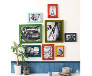Onlineshoppee Multicolour Multicolour Mango Wood 8-piece Photo Frame Collage