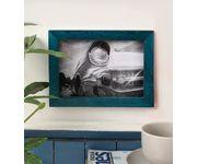 Onlineshoppee Turquoise Mango Wood  Photo Frame