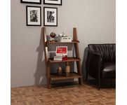 Onlineshoppee  Escalera Leaning Bookcase Ladder and Room Organizer Engineered Wood Wall Shelf   - Brown