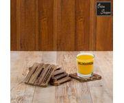 Onlineshoppee Mango  Wood Coaster Set of 6 - Linear Cuts  Handmade