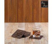 Onlineshoppee Mango  Wood Coaster Set of 6 - Handmade Design Linear Cuts