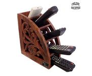 Onlineshoppee Wooden Handmade Remote Holder Multipurpose Storage Stand