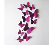 Onlineshoppee 12pcs 3D Butterfly Wall Stickers Decals