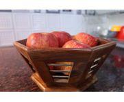 Onlineshoppee Rose Wood Tableware Fruit Basket Tray