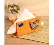 Onlineshoppee Butterfly Engraved Block Napkin Holder Orange